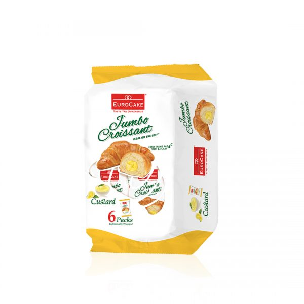 Eurocake Custard Croissant 6pc Pack Front