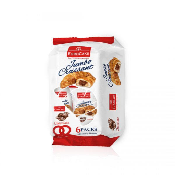 Eurocake Chocolate Croissant 6pc Pack Front