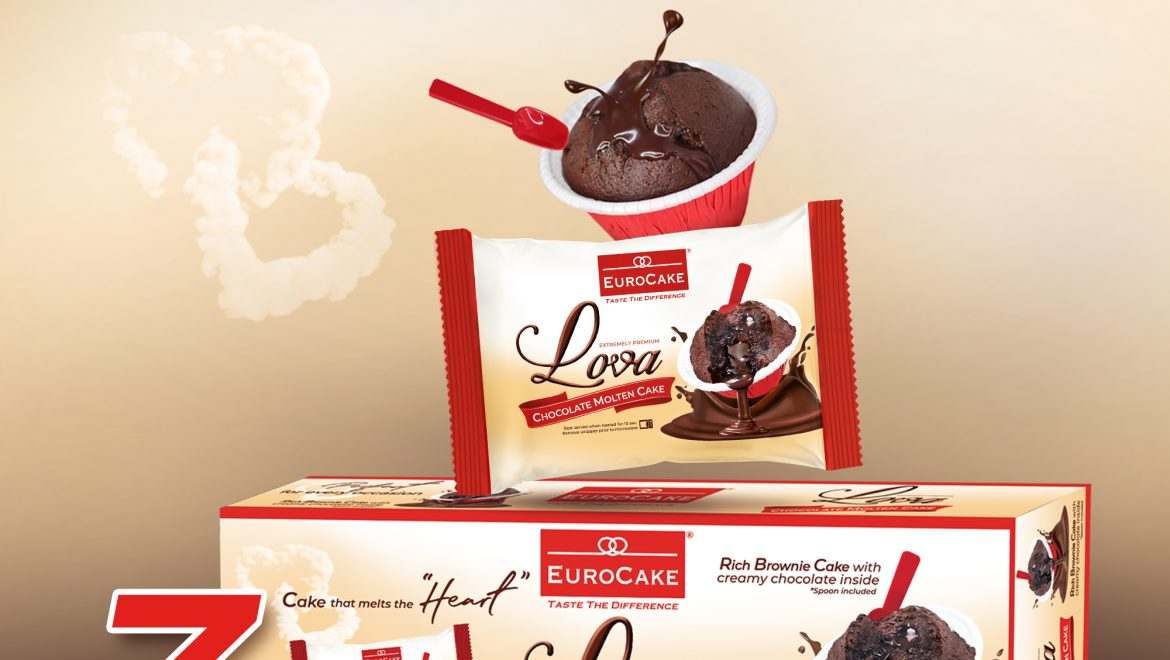 New and Improved Packaging for Eurocake Lova Chocolate Molten Cake While Retaining Same Iconic Taste and Impeccable Quality