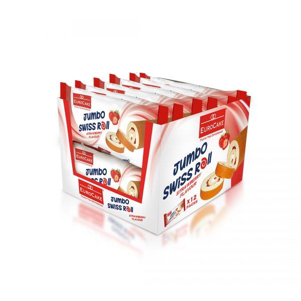 EUROCAKE-Jumbo-Swiss-roll-Strawberry-12pc-tray