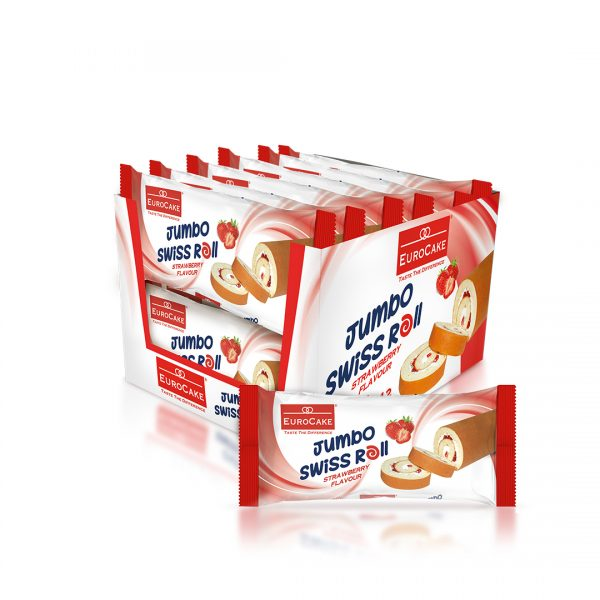 EUROCAKE-Jumbo-Swiss-roll-Strawberry-12pc-tray-with-wrapper