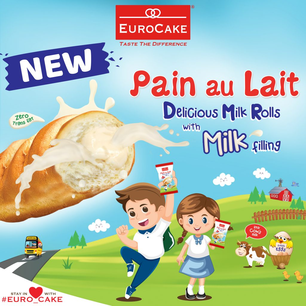 Dofreeze Launches Eurocake Pain au Lait Milk Rolls with Milk Filling as Perfect School Snack for Kids