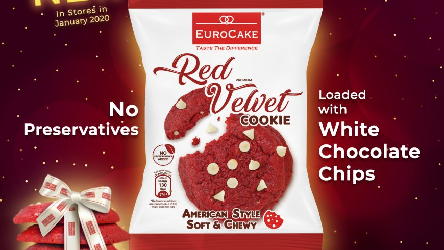 Eurocake Red Velvet Soft and Chewy Cookie Available in Stores Early January 2020