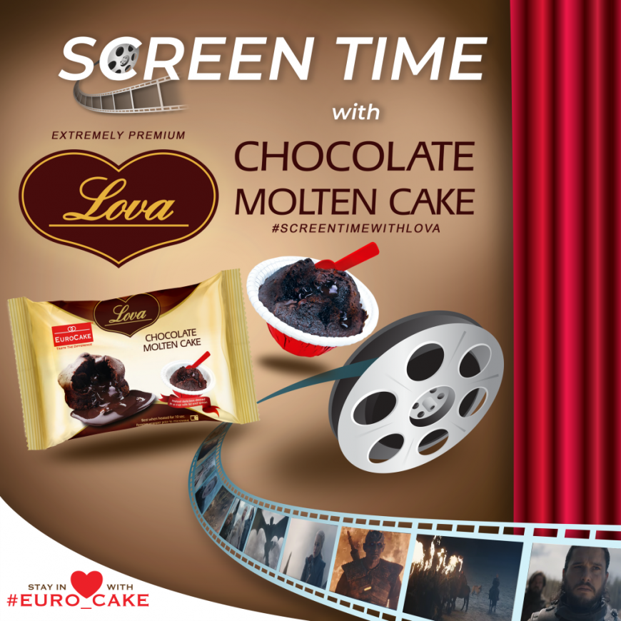 Screen Time with Eurocake Lova Chocolate Molten Cake Campaign