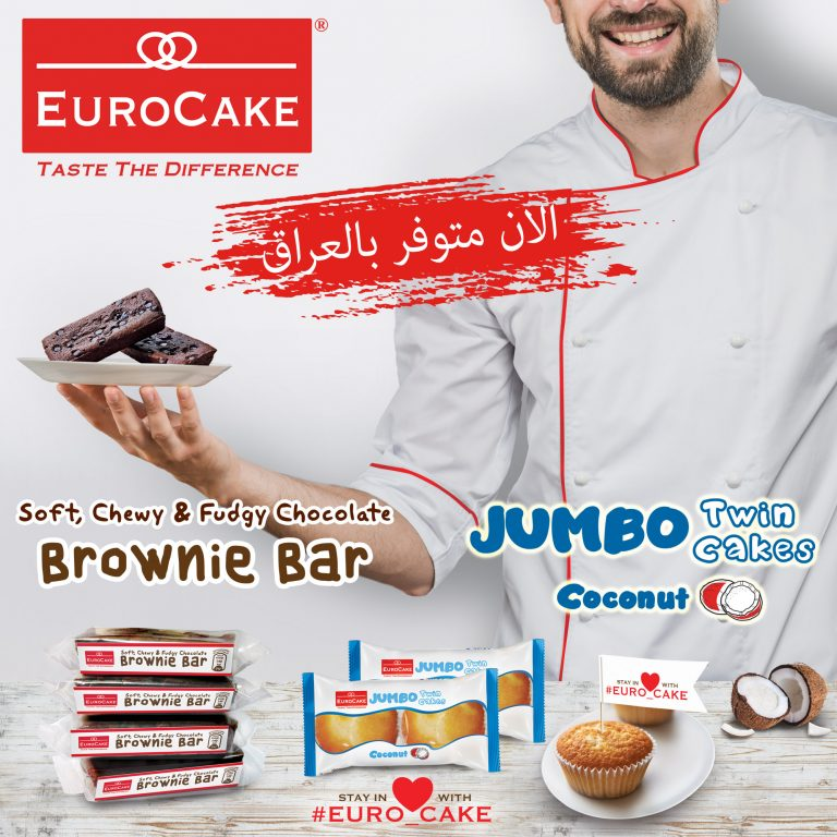 Eurocake Introduces Jumbo Coconut Twin Cakes and Brownie Bars
