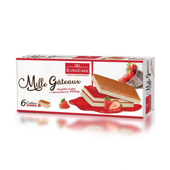 EUROCAKE MILLE GATEAUX 6PCBOX - STRAWBERRY